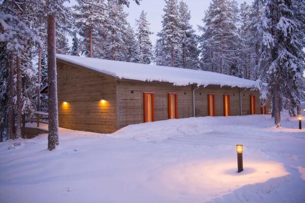 Granö Beckasin Eko hotell på vintern