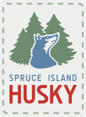 Spruce Island Husky logo