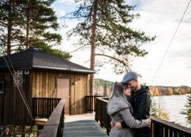 Granö Beckasin Näste utomhus par